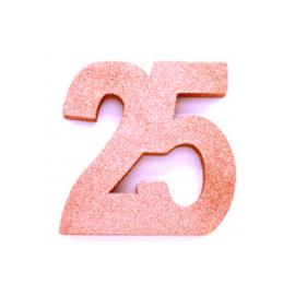 Tafel decoratie rose goud 25