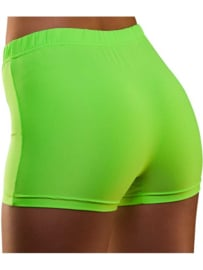 Hot pants neon groen