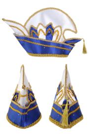 Prinsenmuts luxe blauw