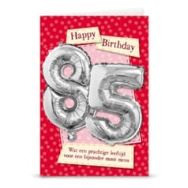 Leeftijd ballonnen kaart 85 jaar
