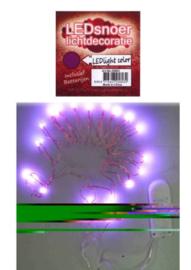 Ledverlichting snoer paars 2 mtr