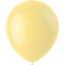 Ballonnen Powder Yellow Mat 33cm - 50 stuks