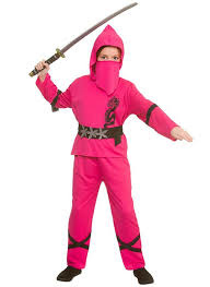 Power ninja kostuum pink