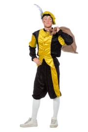 Pieten kostuum pansamt geel zwart
