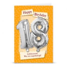 Leeftijd ballonnen kaart 18 jaar