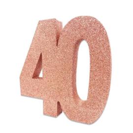 Tafeldecoratie 40 glitter rosegoud