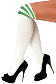 Lieskousen wit met groene strepen