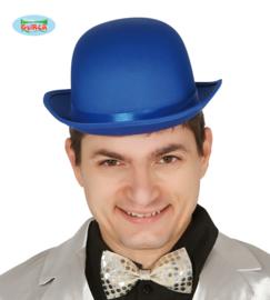 Bol hoed satijn blauw