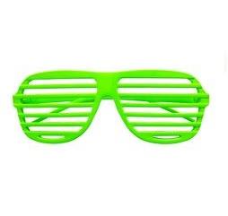 Lamellen bril neon groen