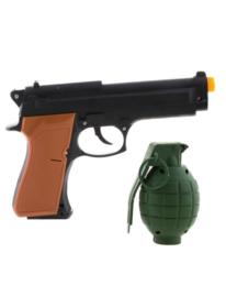 Leger wapenset pistool | granaat