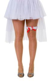 Kouseband wit en rood