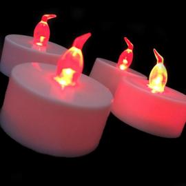 LED kaarsjes rood per 12