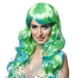 Pruik Aqua woman