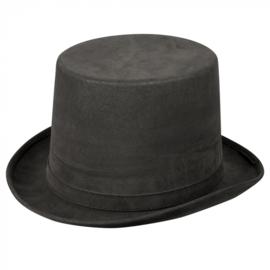 Hoge hoed steamtopper | grijs