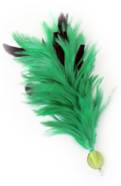 Verenpluim groen 30cm clip