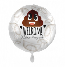 Folieballon Welkom! Kleine Poeperd