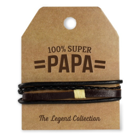 Armband - Super Papa   Luxe