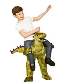 Gedragen dinosaurus kinder kostuum