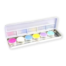 Aqua facepaint pastel palet (6 kleuren)