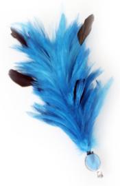 Verenpluim turqoise 30cm clip