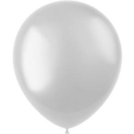 Ballonnen Radiant Pearl White Metallic 33cm - 50 stuks
