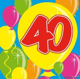 Servetten 40 jaar