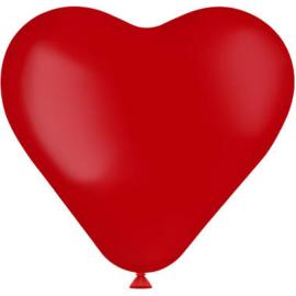 Hartvormige Ballonnen Ruby Red 25cm - 8 stuks
