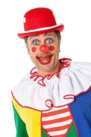 Clowns hoed dots rood