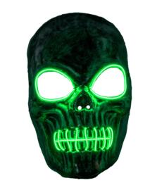 Masker skeleton met licht groen