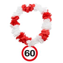 Hawaiikrans 60 jaar verkeersbord