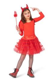 Petticoat meisje | glitter rood