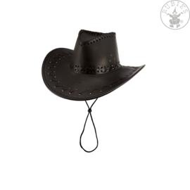 Cowboyhoed deluxe zwart | kwaliteit
