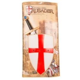 Kruisvaardersset zwaard en schild
