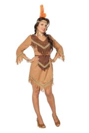 Dames Indianen jurkje beige