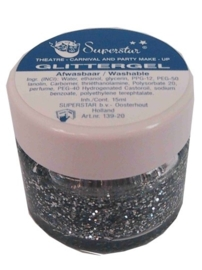 Gel superstar glitterzilver