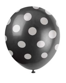Ballonnen dots wit zwart