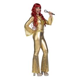 Disco gold kostuum