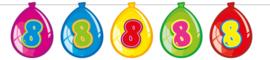 Vlaggenlijn ballonnen 8 jaar
