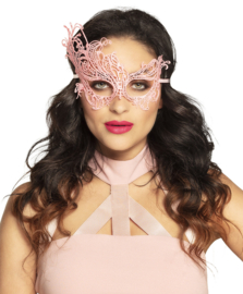 Oogmasker masquerade kant pink