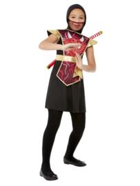 Ninja warrior kostuum rood
