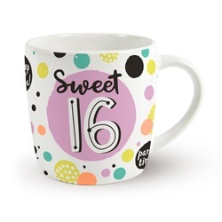 Verjaardags mok - Sweet 16 | koffie beker