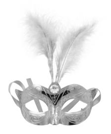 Oogmasker metallic zilver