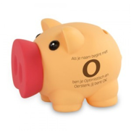 Fun spaarvarken letter O