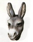 Masker plastic ezel - kind