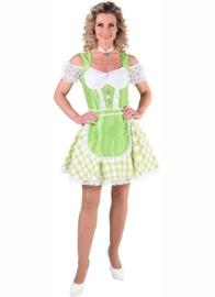 Tiroolse jurk bont fluor groen OP=OP