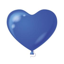 Hartenballonnen blauw 100 st.