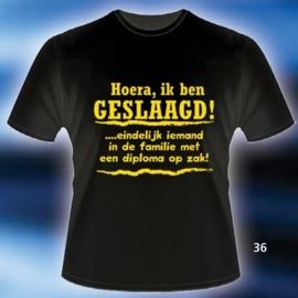 Fun T-shirt Hoera, ik ben geslaagd