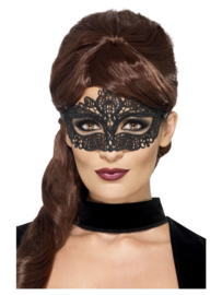 Oogmasker masquerade kant zwart