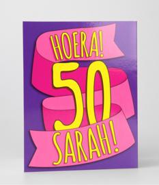 Fun suprise kaart hoera 50 sarah