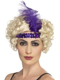 Charleston diamond hoofdband paars